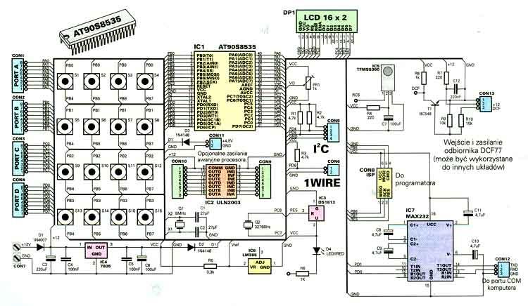 Avt2550 pecel mikrokomputer z procesorem atmega8535 schemat ccuart Gallery